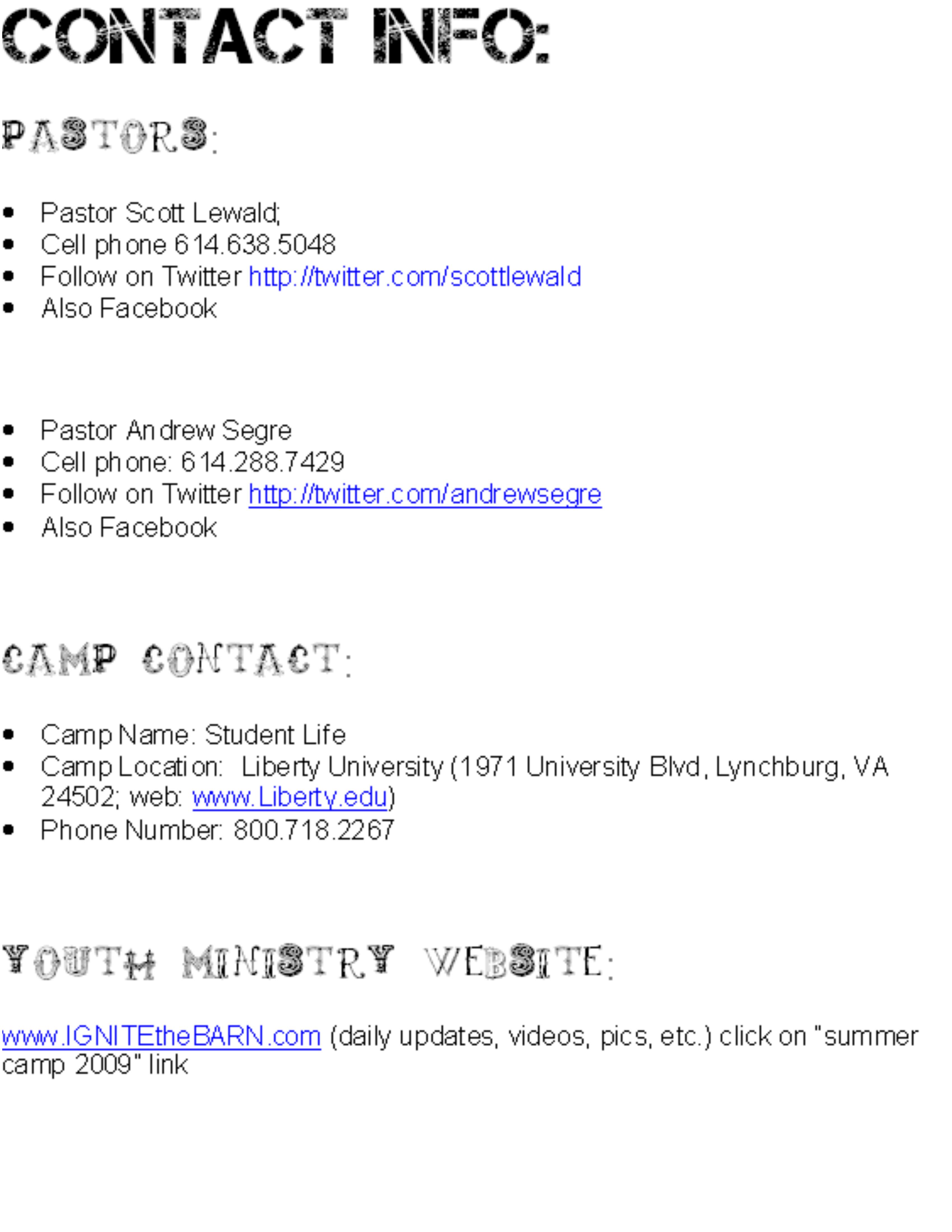Summer camp dress code
